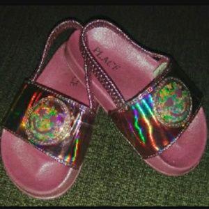 Little girls smiley sandals